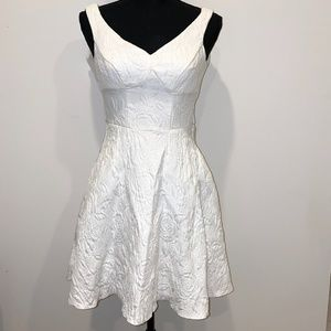 ASOS textured white skater dress